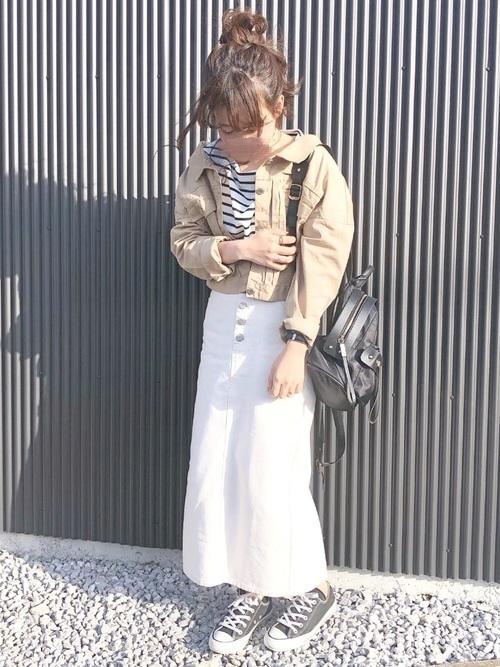 [RETROGIRL] ボタンフライナロースカート
