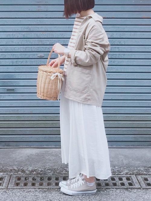30代40代におすすめ♡白スカートで爽やかコーデ