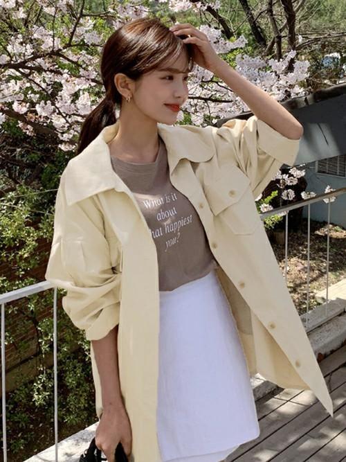 30代におすすめ【アウター×ミニスカート】 白