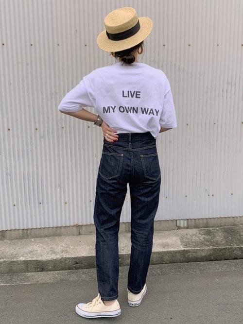 30代40代におすすめ♡ワンウォッシュデニムで大人顔ファッション