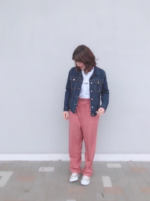 【プチプラ】GUパンツ×ジャケットコーデ