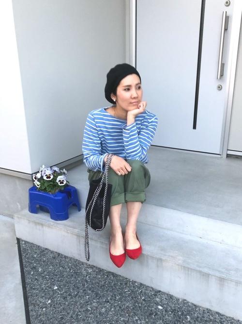 プチプラブルーアイテム×大人女子2