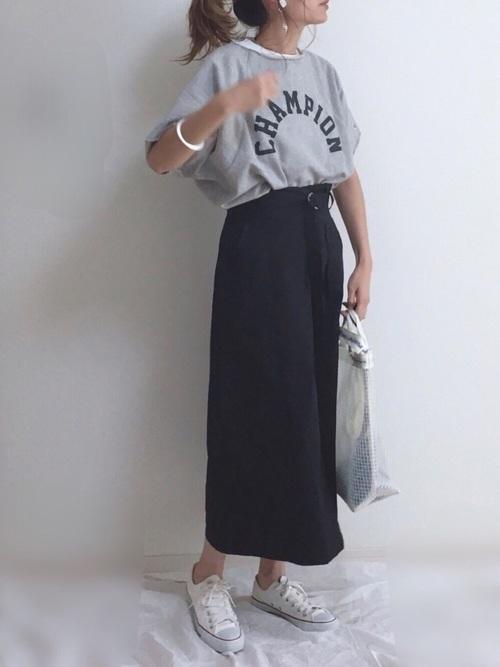 [chuclla/WESTBOY] 【chuclla】ハイウエスト ベルト付きスカート chw701
