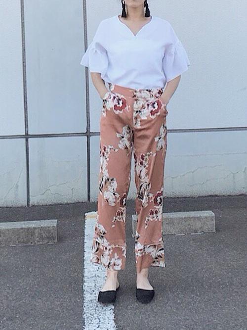 ZARA 花柄パンツ