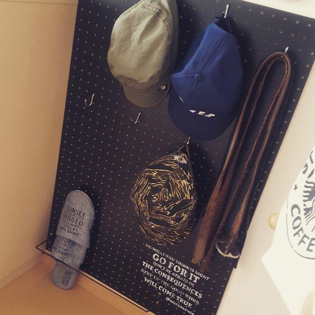 帽子収納アイディア・簡単DIY5
