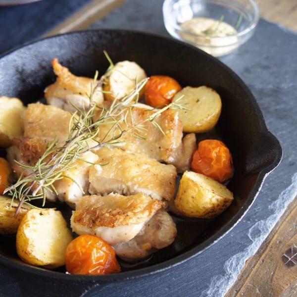 スキレット鍋で直火料理