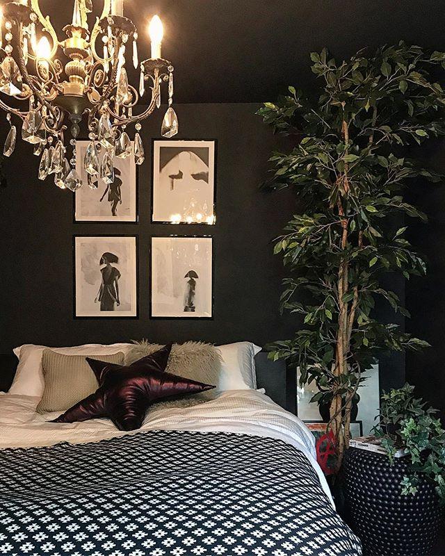 寝室実例 シャンデリア
