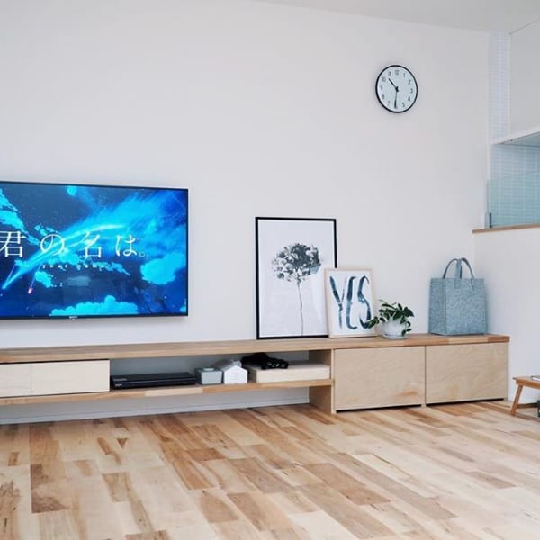 みんなはどうしてる?テレビをスマートにお部屋になじませる方法20選3