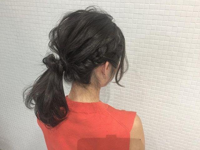 ミディアムのまとめ髪①ポニーテール6