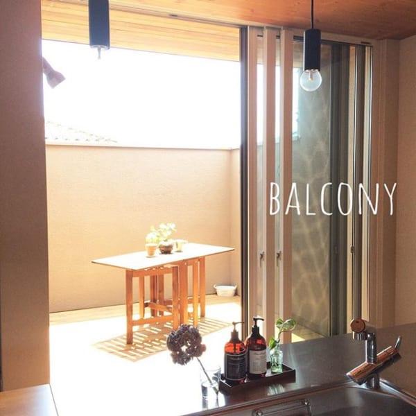 お部屋からつながるバルコニーは、空間の広がり感がポイント☆