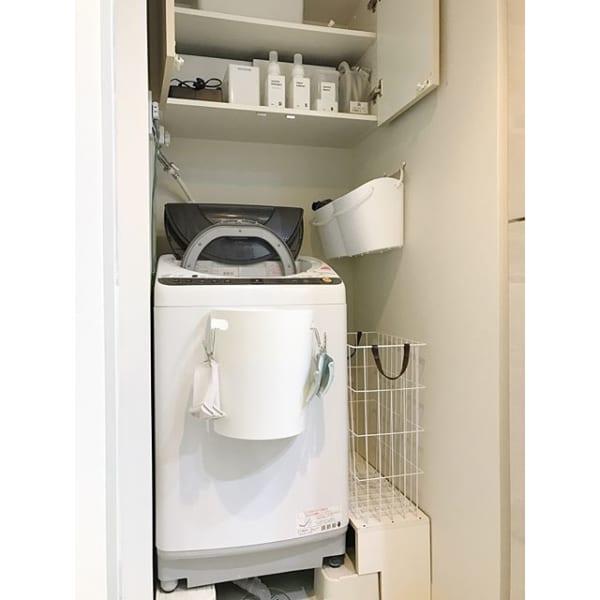 洗濯機横の隙間を利用する4
