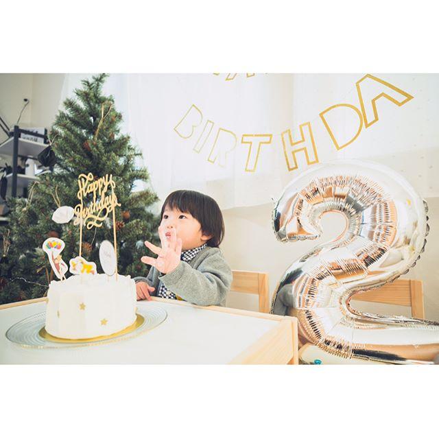 写真を撮る 子供 誕生日