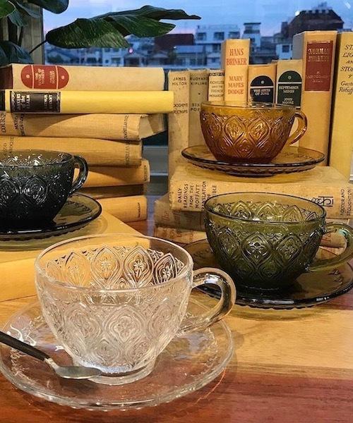 "[CANAL JEAN] DULTON(ダルトン) ""GLASS CUP & SAUCER FIORE"" グラスカップ&ソーサー フィオーレ"