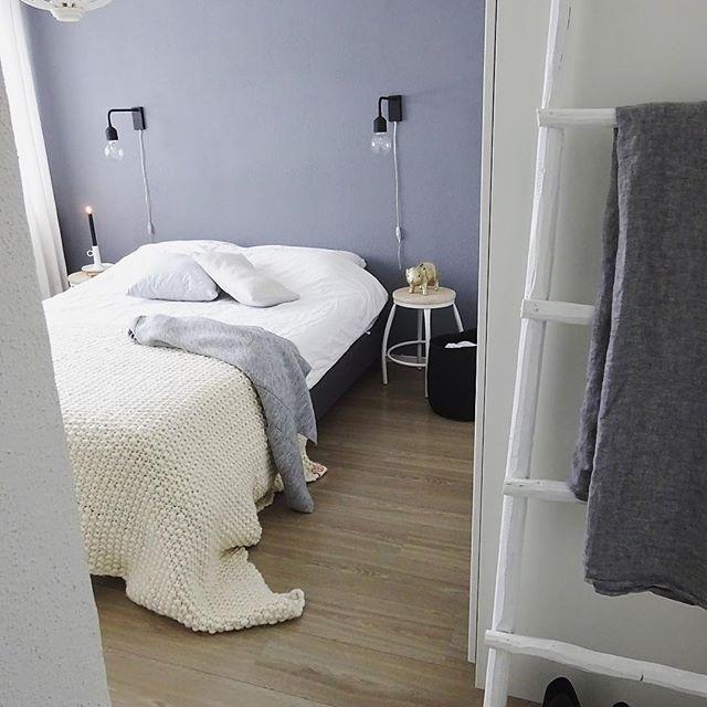 寝室実例 寒色カラー