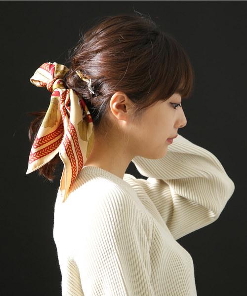 マニプリ:<Silk scarf(65cm×65cm)>-drum-:ドラム柄シルクスカーフ:Silk-scarf-drum[ANN]