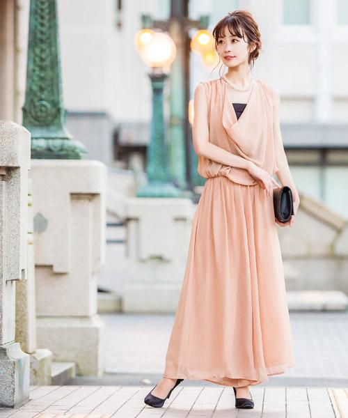 [Fashion Letter] ドレープコンビネゾンパンツドレス