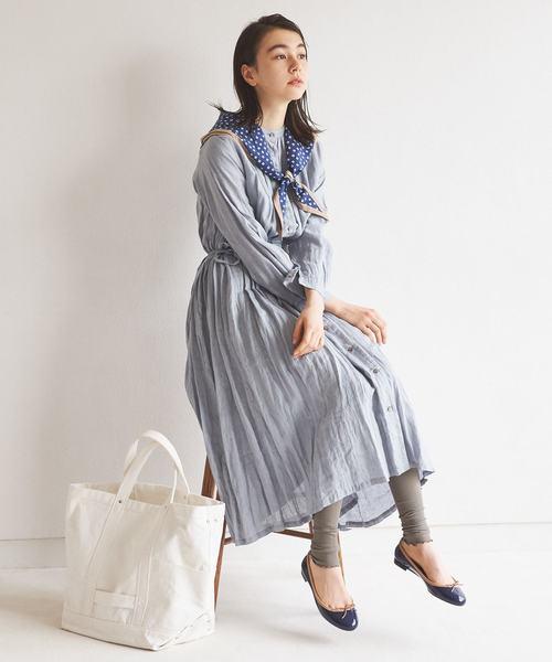 [Tabio/靴下屋] 靴下屋/ 2×2リブ 裾メロウレギンス 12分丈