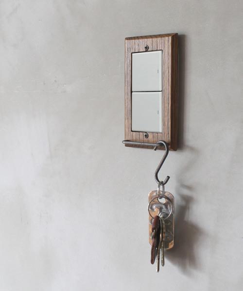 [a.depeche] wood hang bar switch plate wide