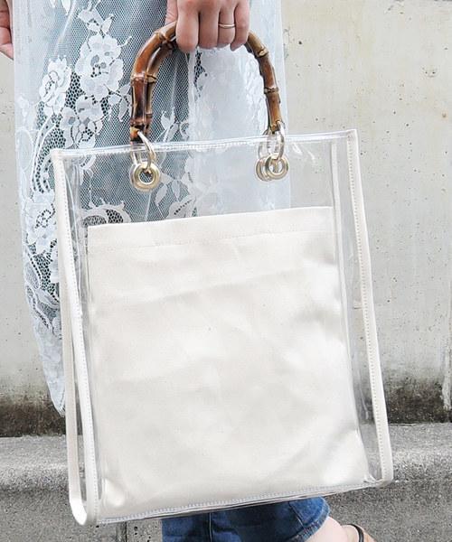 [minia] バンブークリアバッグ [minia] ≪2019SS新色登場≫ 【 雑誌掲載 / mina3月号 】
