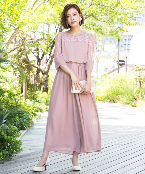 [kana] レース切替ワイドパンツドレス