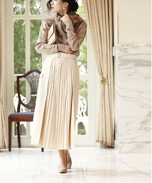 [cawaii] ラップデザインのプリーツスカート