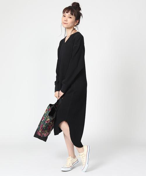 [FREAK'S STORE] ワッフルワンピース(長袖/サーマル)