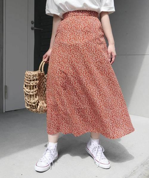 マルチパターンロングフレアースカート
