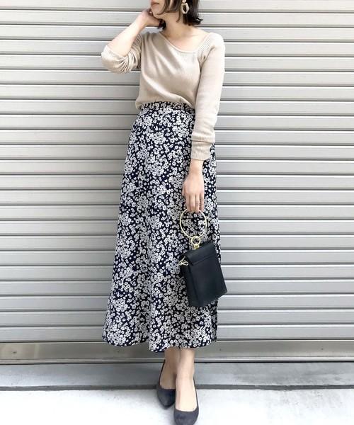 [archives] 単色花デシンスカート