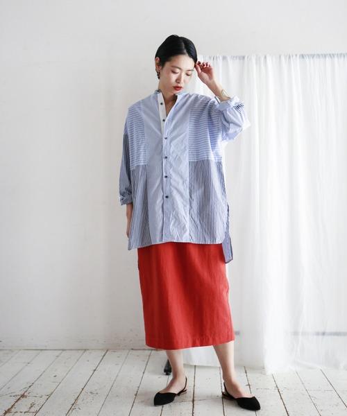 Nyポプリン セミタイトスカート