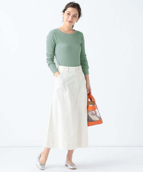 [BEAMS WOMEN] Moname / ワーク ロングスカート