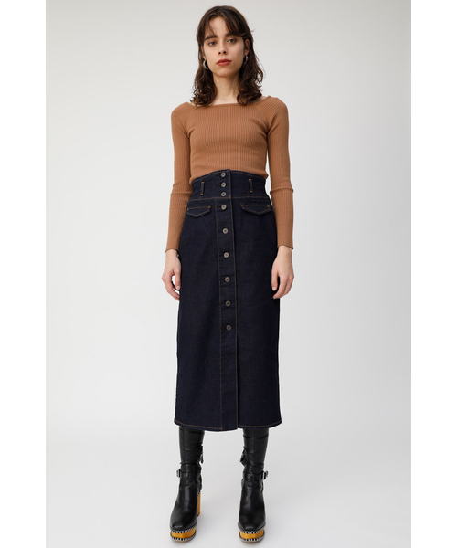 [MOUSSY] CORSET DENIM SKIRT