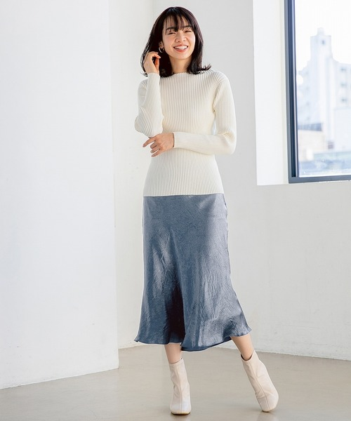Aサテンマーメイドスカート 825017