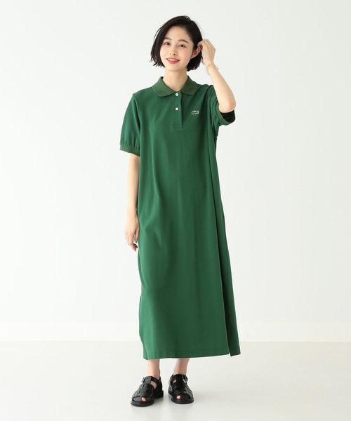 [BEAMS WOMEN] LACOSTE / 別注 ポロ ドレス