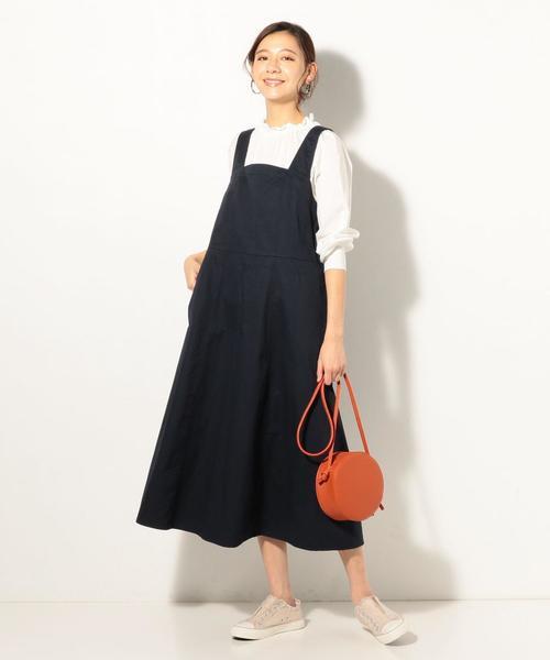 [coen] バックリボンジャンパースカート