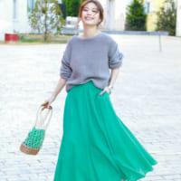 女子会&ママ会は「きれい色スカート」を味方に!大人の着こなしまとめ