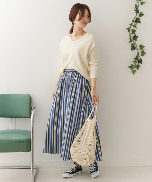 ストライプ柄 スカート