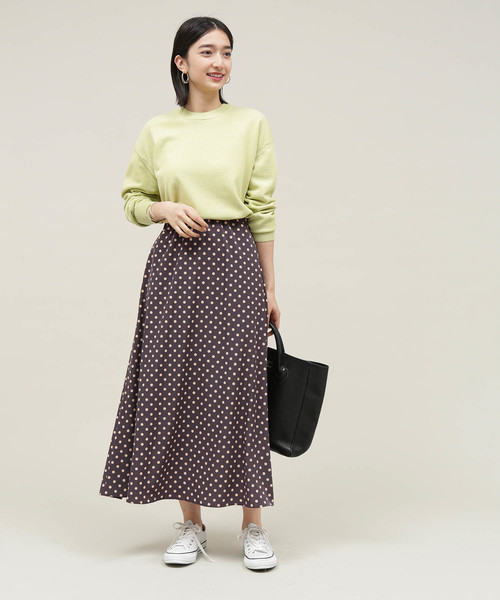[ADAM ET ROPE'] 【WEB限定】ドットAラインスカート