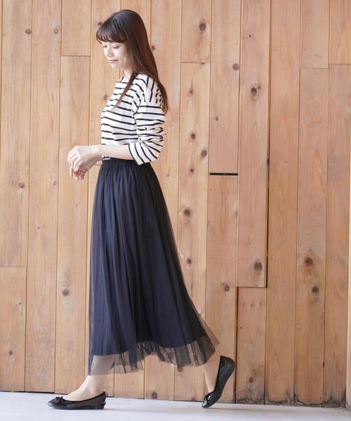 [rps] チュール×プリーツリバーシブルスカート