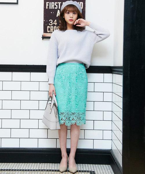 [31 Sons de mode] ケミカルレースタイトスカート