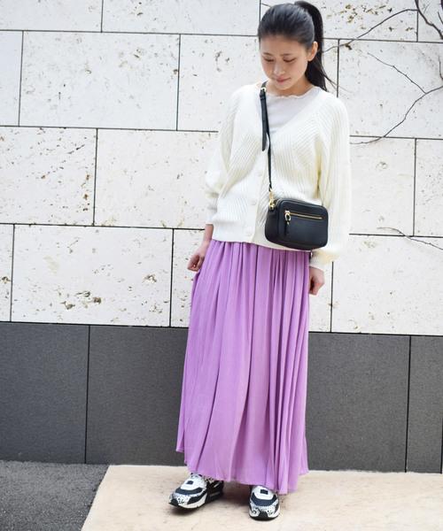 [PICCIN] 楊柳シフォンギャザースカート
