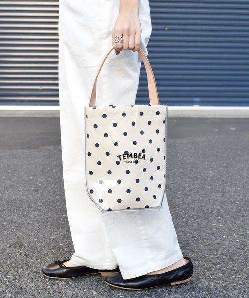 [SHIPS for women] 【別注】TEMBEA:PVC BAGUETTE TOTE MINI ドット◇