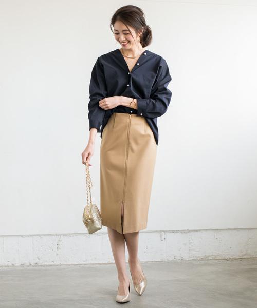 [Loungedress] パール2WAYシャツ