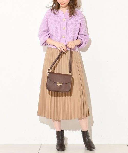 [natural couture] ジョーゼットプリーツスカート
