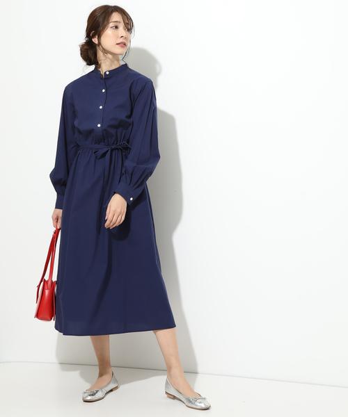 [ViS] 【鎌倉シャツ×ViS】スタンドカラーワンピース