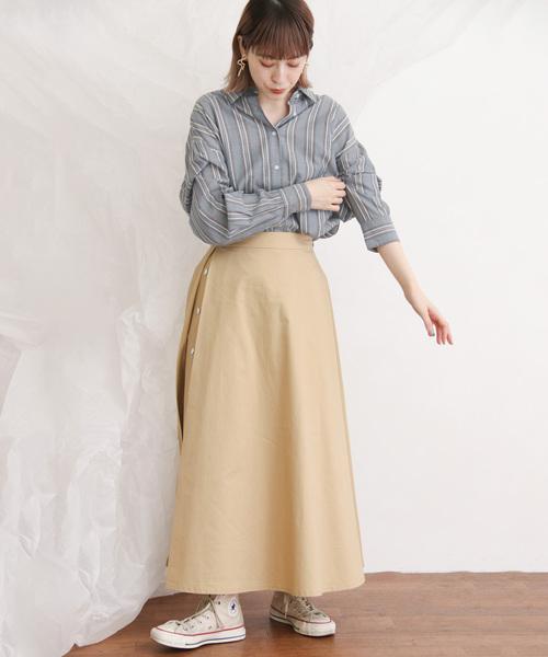 [KBF] ストライプオーバーシャツ