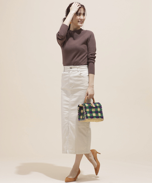 [nano・universe] I-line slim fit skirt