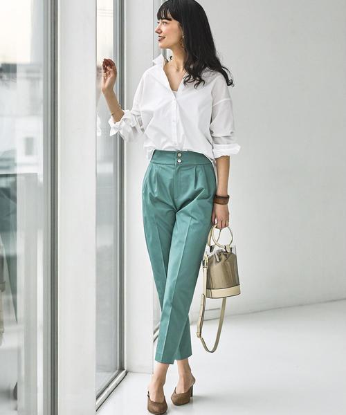 [green label relaxing] FM 50ブロード オーバーサイズ シャツ
