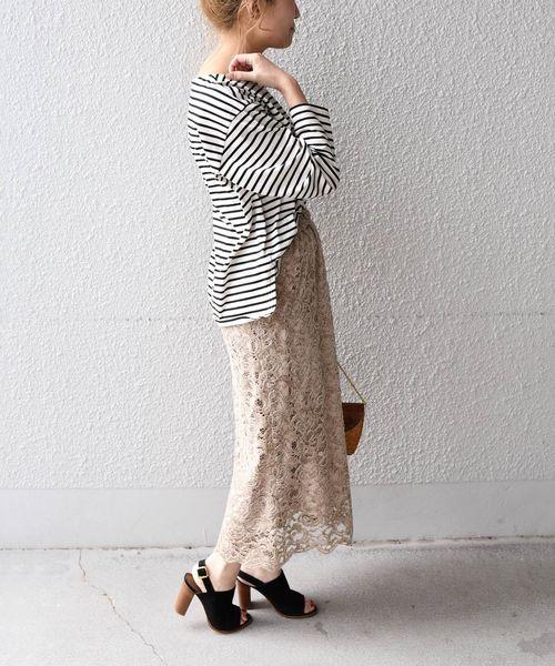 [SHIPS for women] Khaju:レーススカート