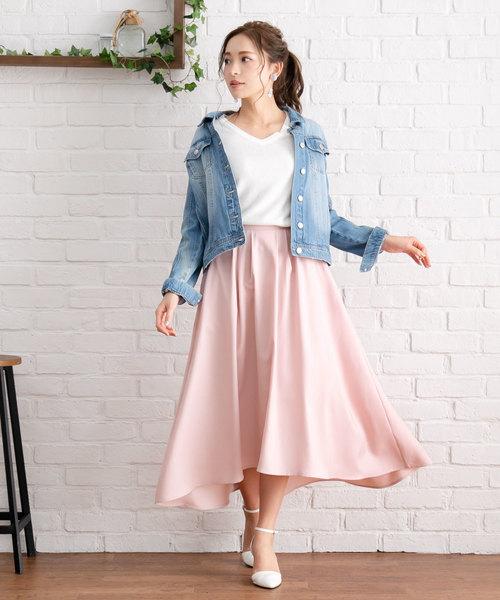 [夢展望] ポケット付きロングフィッシュテールスカート