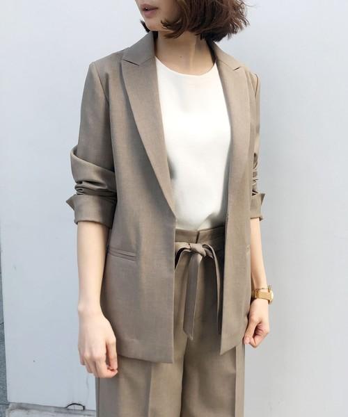 [aquagirl] リネン調ジャケット